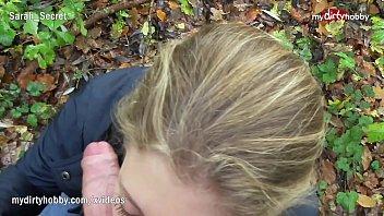 Novinhagostosa10 pagando boquete gostoso no meio dos matos