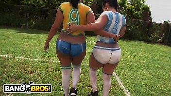 Brasil e Argentina - Disputa de sexo de duas gostosas em videoporno